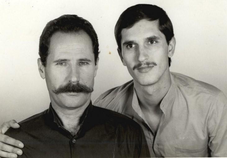 Nga Burgu i Qarkut në Mostar, me Skënder Kastratin, korrik 1983.