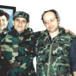 Me Urs Ulrich, një mik i madh i shqiptarëve dhe luftës së madhe të UÇK-së. Foto e 14 prillit 1999, para se të nisem në radhët e UÇK-së.
