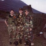 Cahan, maj 1999: Agim Sylejmani me Rifat Sylejmanin dhe Agron Haradinajn.