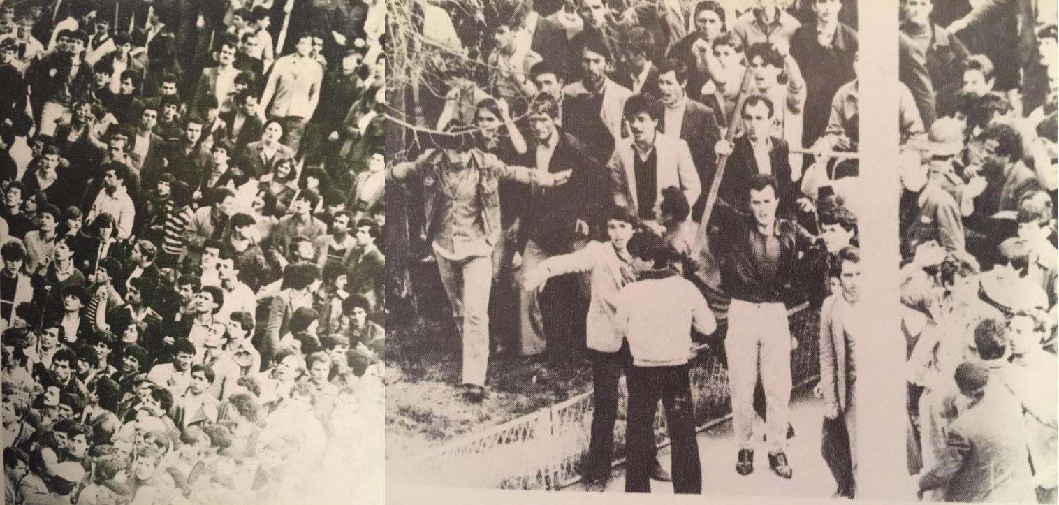 Pamje nga demonstratat e 1 prillit 1981 në Prishtinë