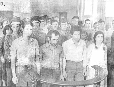 Kadrie Gashi para gjyqit armik bashkë me shokë të tjerë, ishin grupi i parë i zbuluar i PKMLSHJ në nëntor 1981