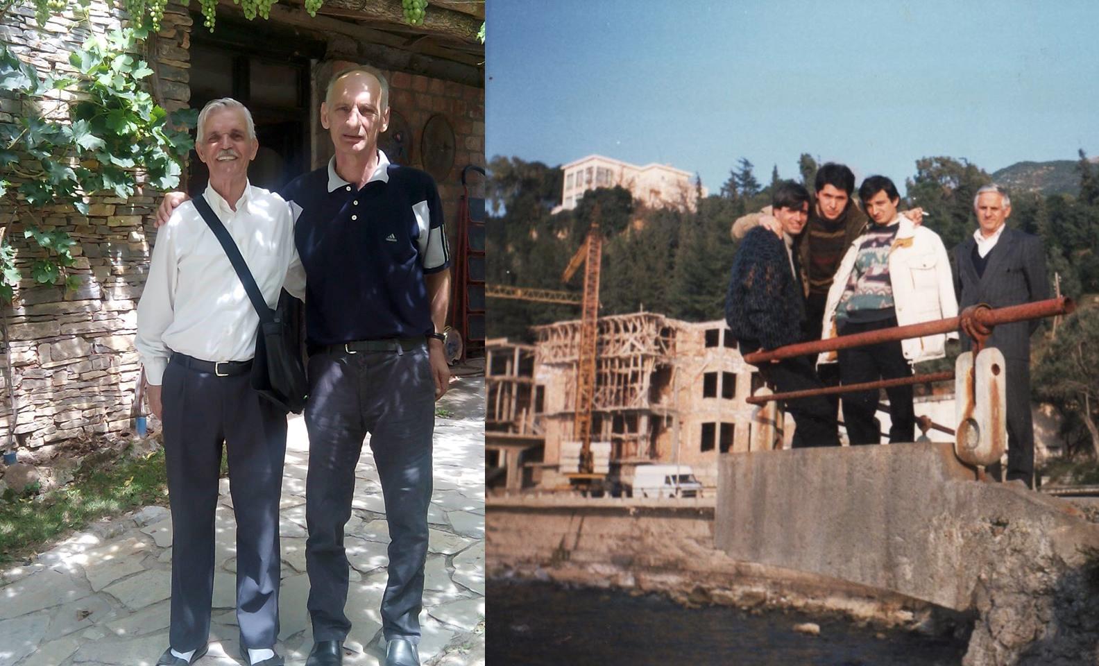 Baca Nysret Hajdari me bashkëveprimtarin Skender Ibishin dhe foto tjetër nga e majta Skender Hajdari, me mua (o. Osmanin), Faton e Ramush Topallin në vitin 1990