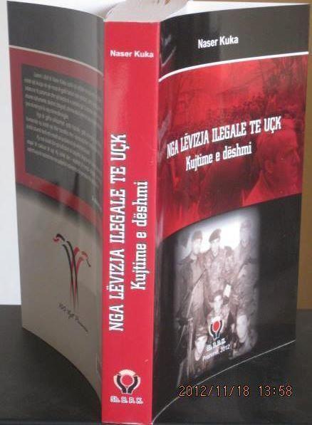 """Pamje nga libri me kujtime e dëshmi të veprimtarit atdhetar Naser Kuka """"NGA LËVIZJA ILEGALE TE UÇK"""""""