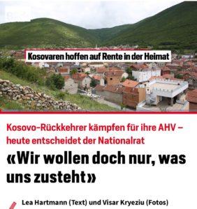 """Të kthyerit në Kosovë luftojnë për pensionet në Atdhe - Sot vendos parlamenti i Zvicrës / """"Ne duam vetüem atë që na takon"""""""
